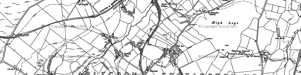 Old map of Arlecdon in 1898