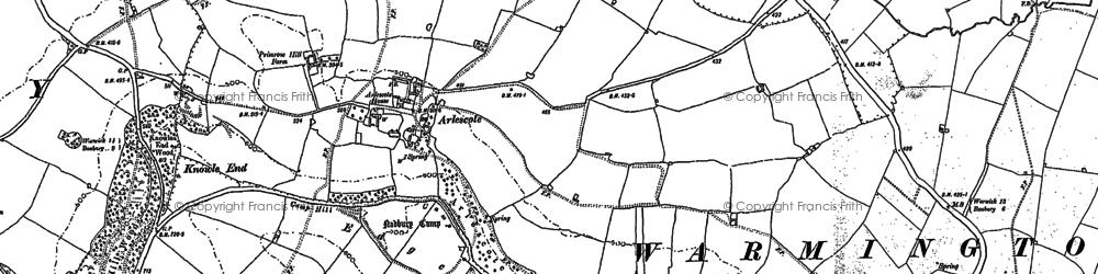 Old map of Arlescote in 1899