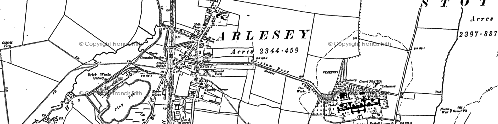 Old map of Arlesey in 1900