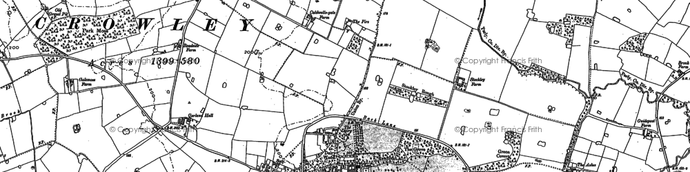 Old map of Arley Hall in 1897