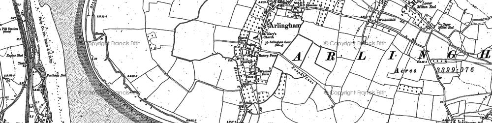 Old map of Arlingham in 1879