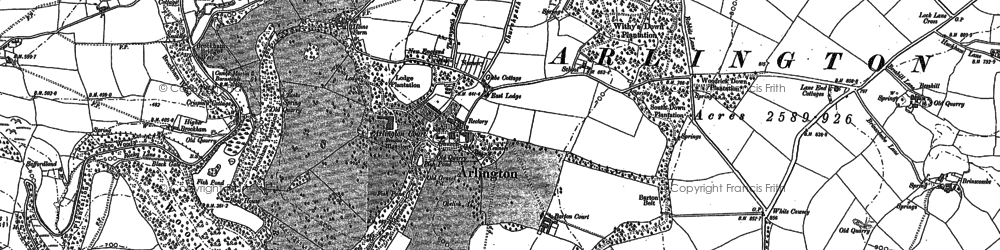 Old map of White Cawsey in 1886