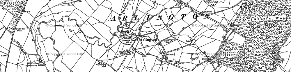 Old map of Tye Hill in 1898