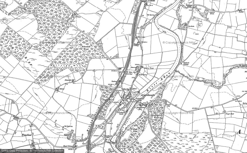 Map of Armathwaite, 1899