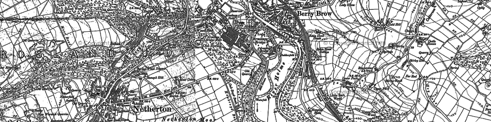 Old map of Armitage Bridge in 1888