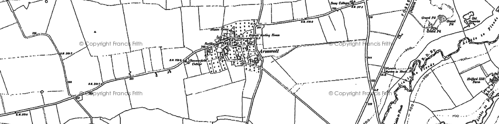 Old map of Armscote in 1885