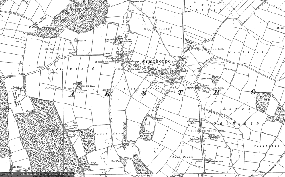 Map of Armthorpe, 1890 - 1891