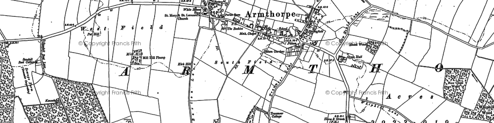 Old map of Armthorpe in 1890