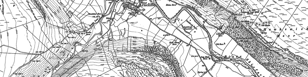 Old map of Arncliffe in 1907