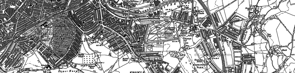 Old map of Arno's Vale in 1902