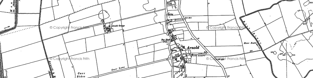 Old map of Arnold in 1889