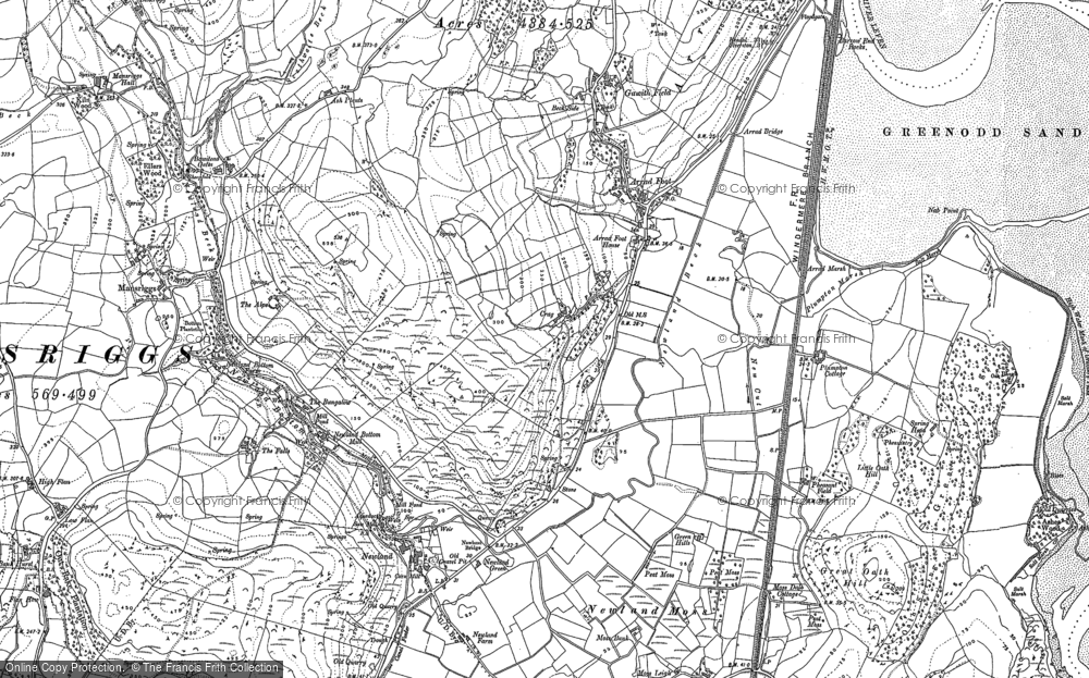 Old Map of Arrad Foot, 1911 in 1911
