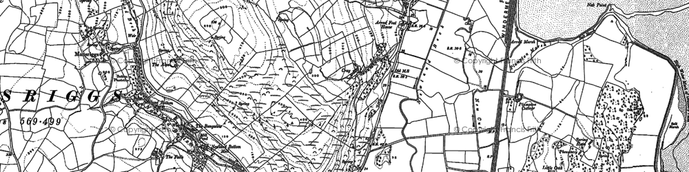 Old map of Arrad Foot in 1911