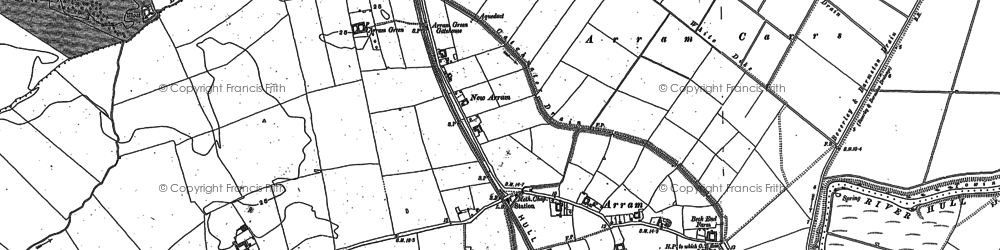 Old map of Arram in 1850