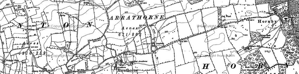 Old map of Arrathorne in 1891