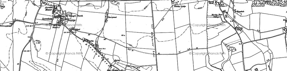 Old map of Arreton in 1896