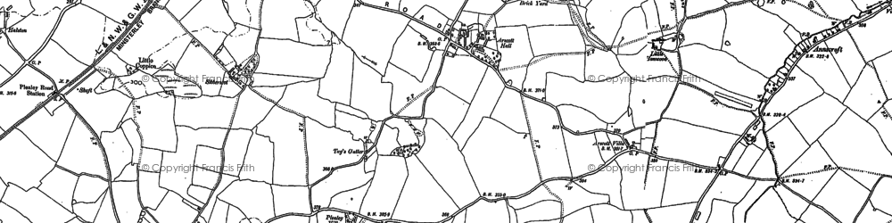 Old map of Arscott in 1881