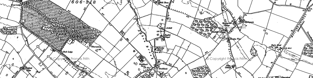 Old map of Arthill in 1897