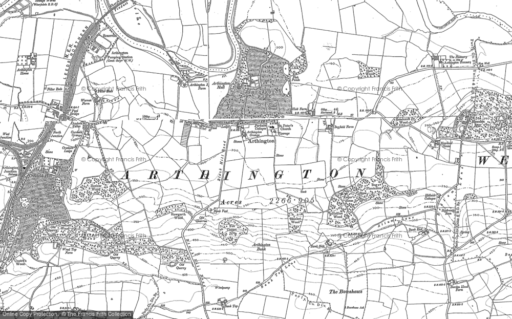Old Map of Historic Map covering Arthington Bank in 1888