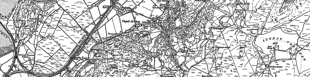 Old map of Arthog in 1900