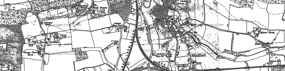 Old map of Artington in 1895