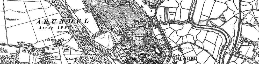 Old map of Arundel Park in 1875