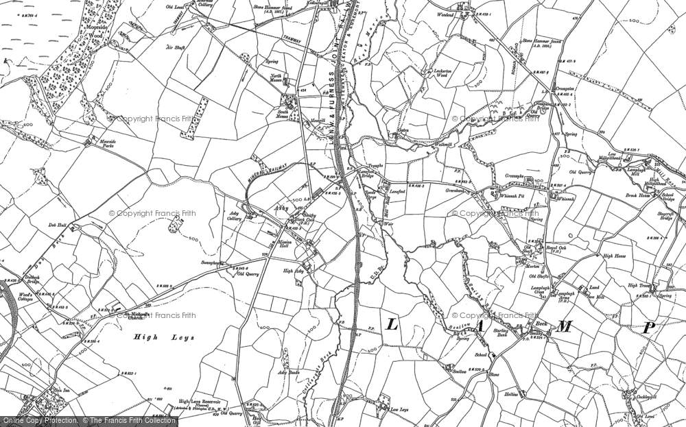 Old Map of Asby, 1898 in 1898