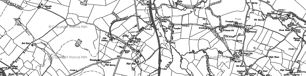 Old map of Asby in 1898