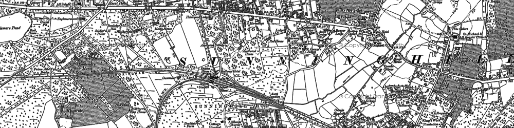 Old map of Ascot in 1898