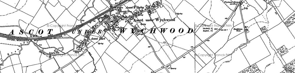 Old map of Ascott-under-Wychwood in 1898