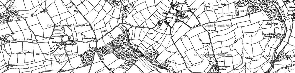 Old map of Ash in 1885