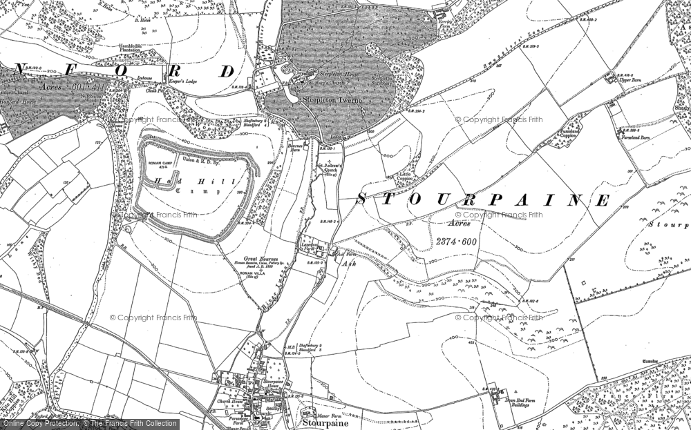 Old Map of Ash, 1886 in 1886