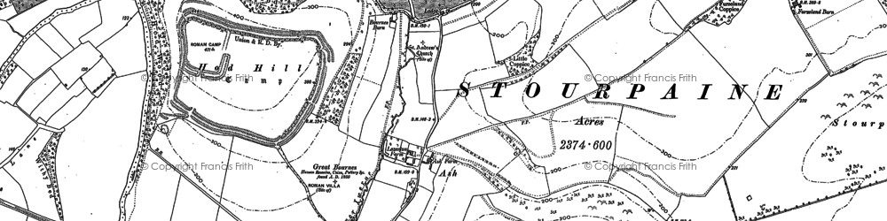 Old map of Ash in 1886