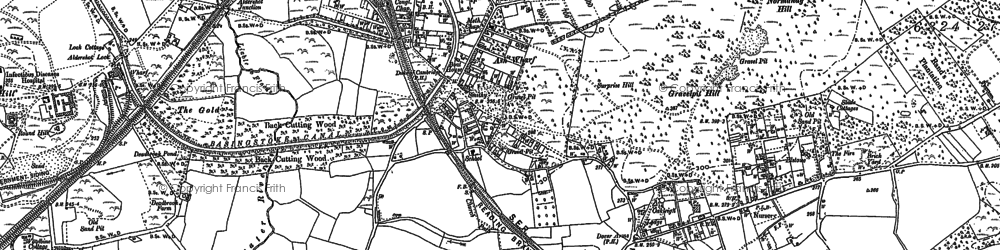 Old map of Ash Common in 1895