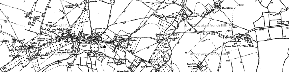 Old map of Ash in 1896