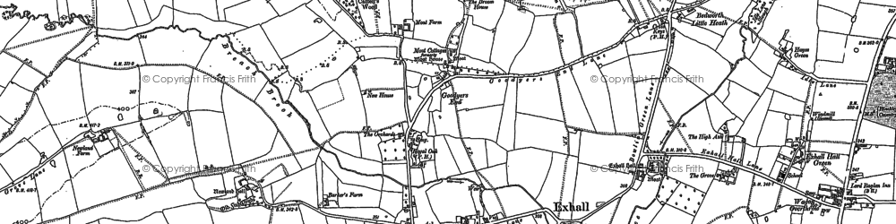 Old map of Ash Green in 1887