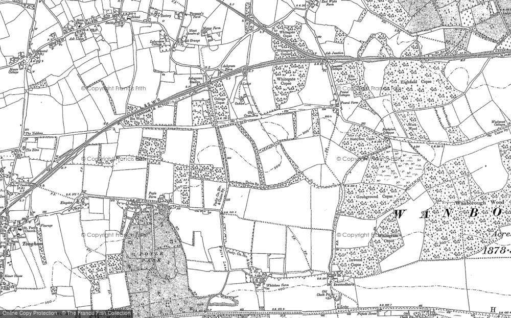 Old Map of Ash Green, 1895 - 1913 in 1895