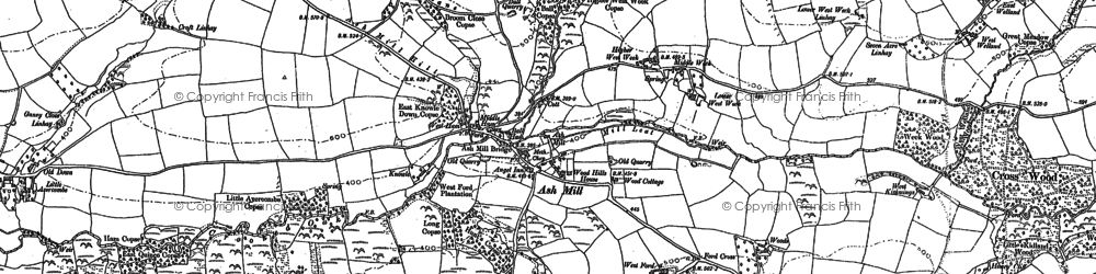 Old map of Westacott in 1887