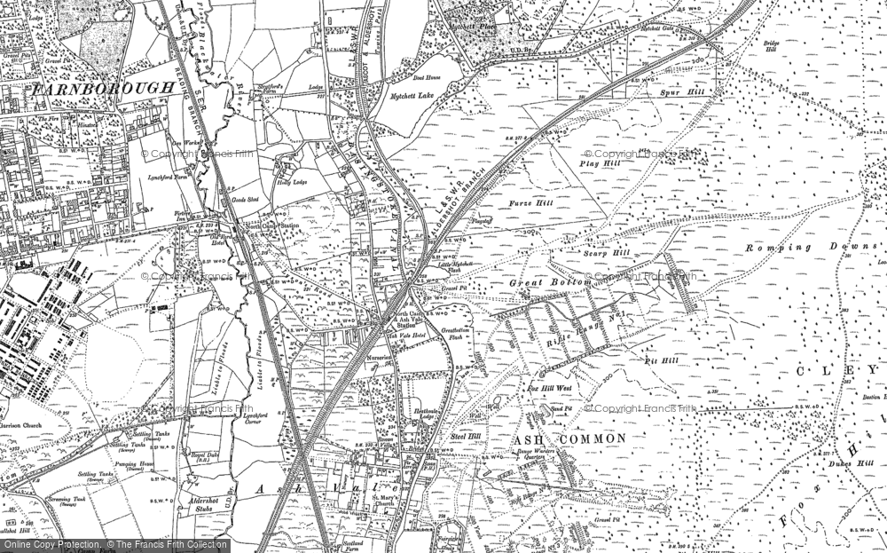 Old Map of Ash Vale, 1895 - 1913 in 1895
