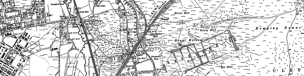 Old map of Ash Vale in 1895