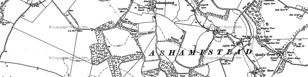 Old map of Ashampstead Green in 1898