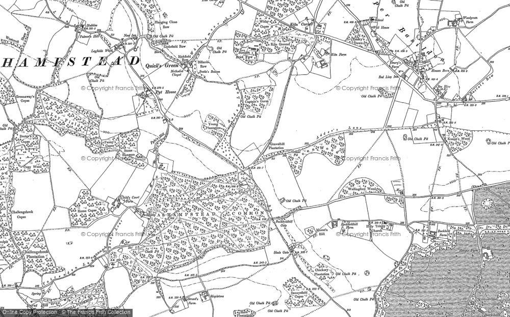 Old Map of Ashampstead Common, 1898 - 1910 in 1898