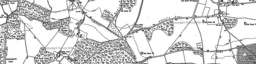 Old map of Ashampstead Common in 1898