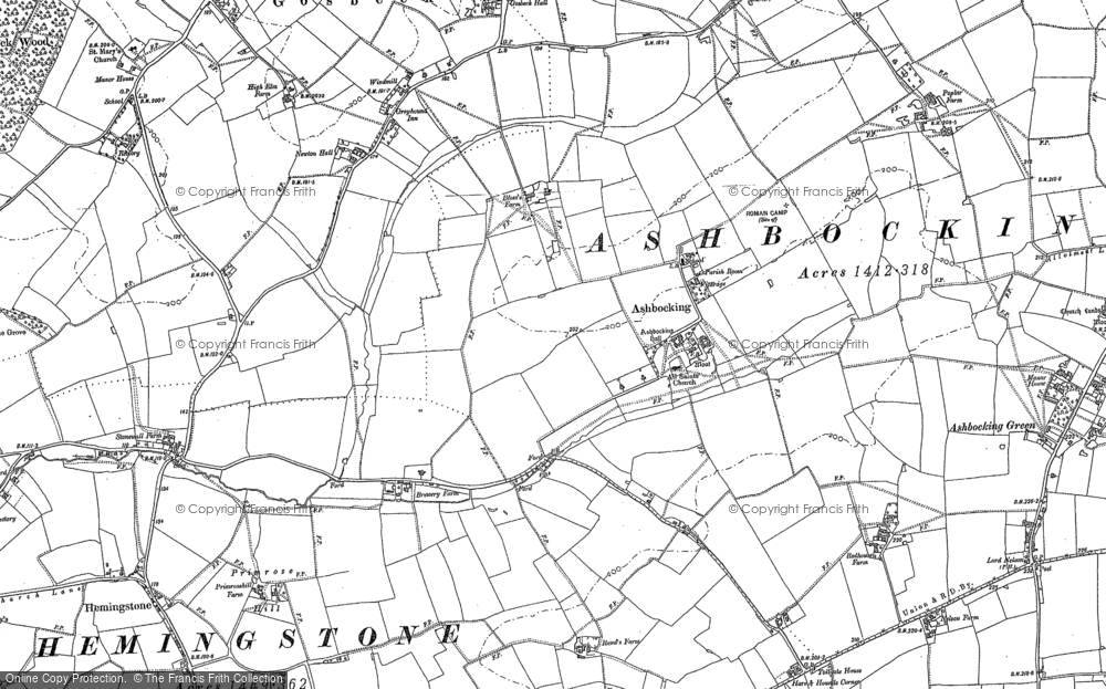 Old Map of Ashbocking, 1882 - 1883 in 1882