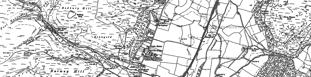 Old map of Ashbrook in 1882