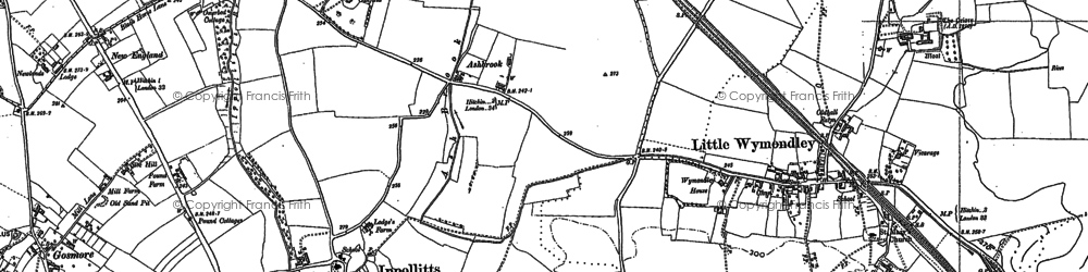 Old map of Oakfield in 1896