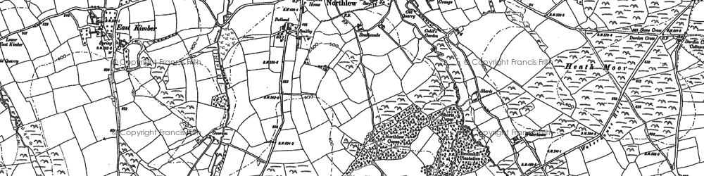 Old map of Ashbury in 1884