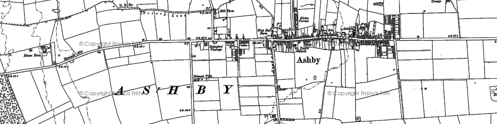 Old map of Ashby in 1885