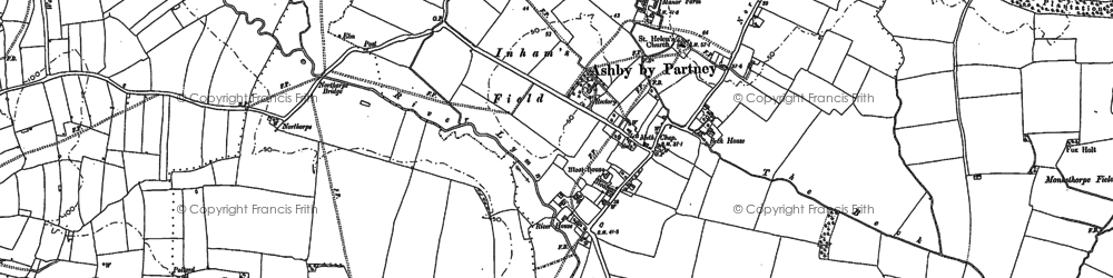 Old map of Ashby by Partney in 1887