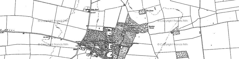 Old map of Ashby de la Launde in 1887